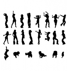 silhoutte vector image vector image