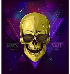 Skull hipster vector