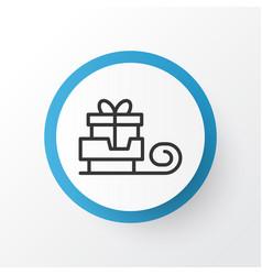 Sledge icon symbol premium quality isolated vector