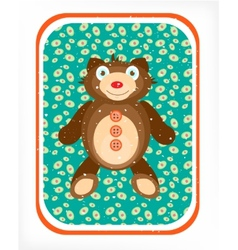 Teddy bear on a blue background vector image
