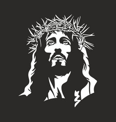 the face of jesus christ vector image vector image