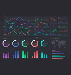 User interface with infographic dashboard annual vector
