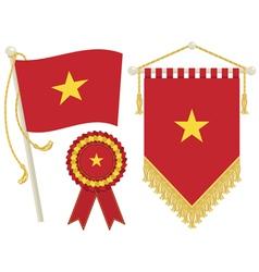 vietnam flags vector image