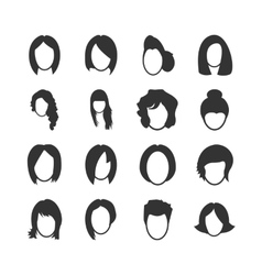 Woman icons set vector image vector image