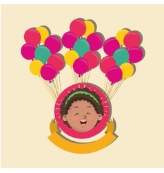 Happy child image vector