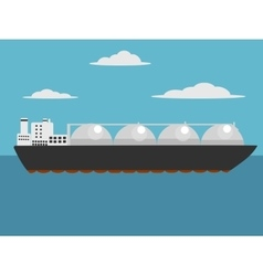 Liquefied natural gas carrier ship vector