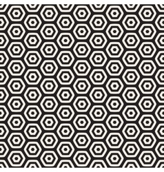 Seamless Black And White HoneyComb Grid vector image