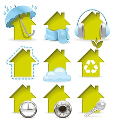 Housing icons vector