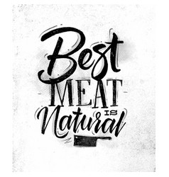 poster best meat vector image