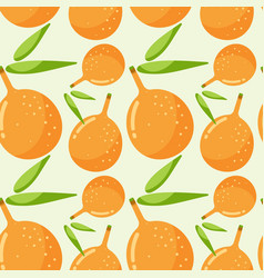 Seamless pattern with passion fruit vector