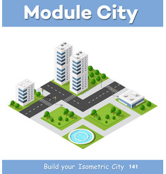 Isometric area is the landscape of a large city vector