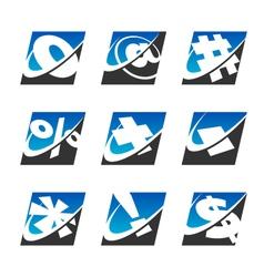 Swoosh Sport Symbol Logo Icons vector image