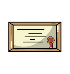 Diploma certificate to honor graduation celebrate vector
