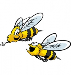 Bumble bees vector