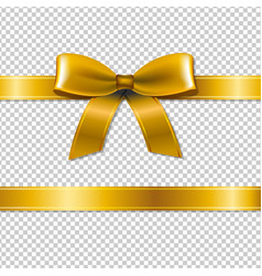 Golden bow isolated vector