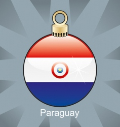 Paraguay flag on bulb vector image