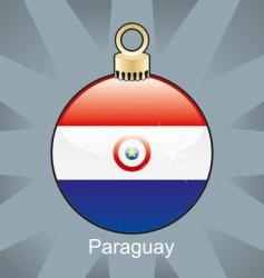 Paraguay flag on bulb vector image