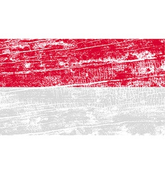 Flag of monaco with old texture vector