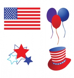 america flag and symbol vector image
