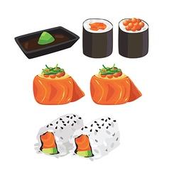 salmon maki vector image