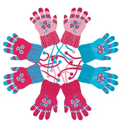 childrens gloves vector image