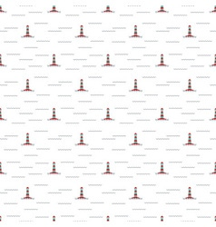 Pattern lighthouse vector