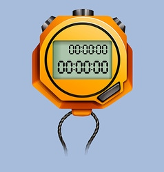 Yellow stopwatch with rope vector