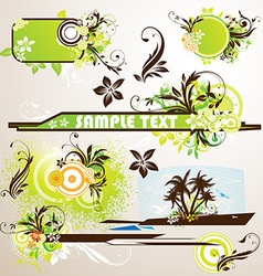 Grunge summer set vector