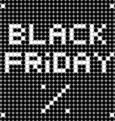 Black friday dots vector