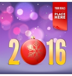 Greeting card for new year vector