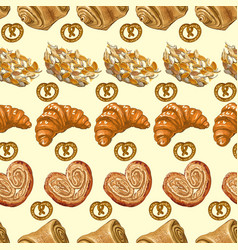 Bakery pattern 2 vector image