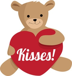 Teddy kisses vector