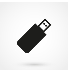 usb icon black on white background vector image