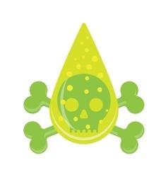 Sign drop skull poison symbol vector