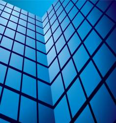 Abstract glass tower block vector