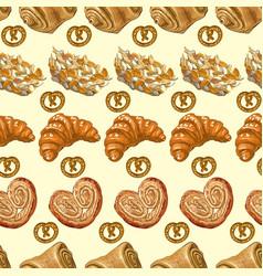 Bakery pattern 2 vector