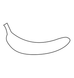 Banana black color path icon vector