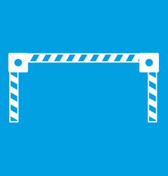 Barrier icon white vector