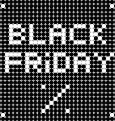 Black friday dots vector