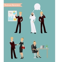 character poses Office worker vector image