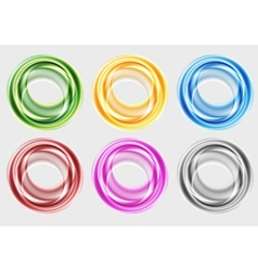 Colourful circles vector image vector image
