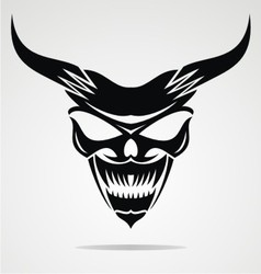Demon Mask vector image vector image