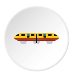Electric train icon flat style vector