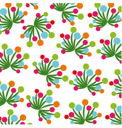Flowers and leaves garden background decoration vector