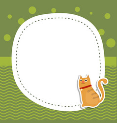 greeting card with cute cat greeting card with vector image vector image