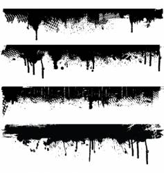 grunge borders vector image vector image