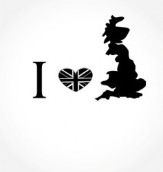 I love uk vector
