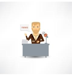 journalist tells the news vector image