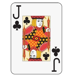 Jumbo index jack of clubs vector image