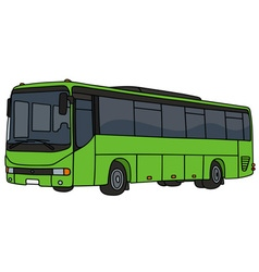 Light green bus vector